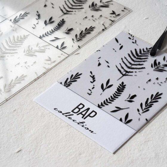 collezione cartellini per abbigliamento Typontag tipografia la marina