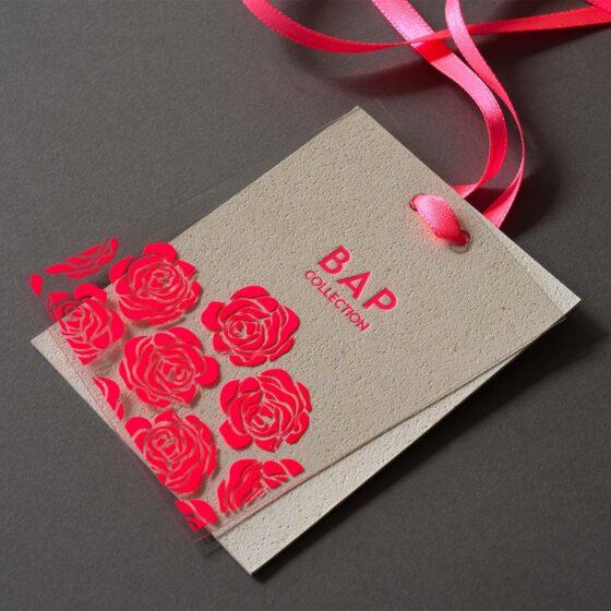 progettazione e stampa cartellini per abbigliamento